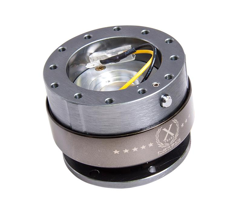 NRG Innovations SRK-200OR Quick Release Orange Body//Titanium Chrome Ring