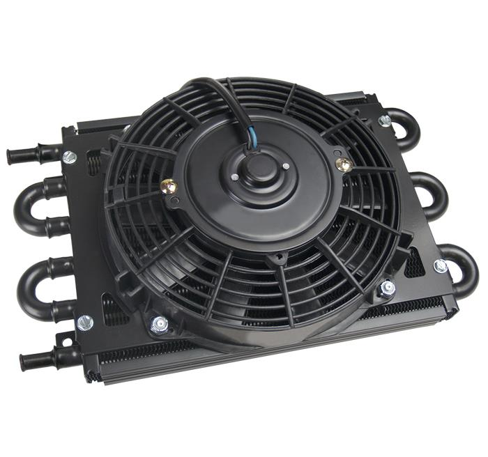 "13 Row Trust Oil Cooler Thermostat Sandwich Plate Kit+7/"" Electric Fan kit"