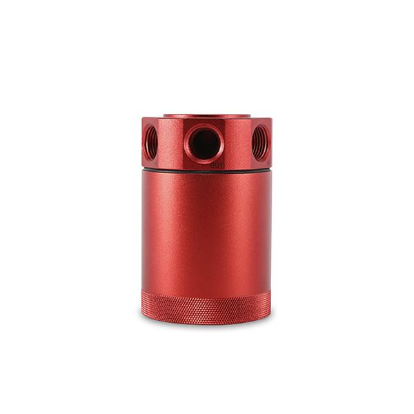 Red USA Mishimoto MMBCC-UNI-RD Performance Universal Baffled Oil Catch Can