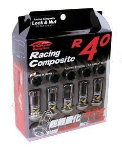 KICS R40 Black Chrome Lug Nuts With Key Adapter