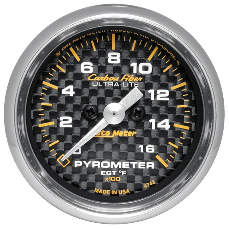 Carbon Fiber AutoMeter 4712 Gauge 100psi Mech Fuel Pressure 2 1//16in