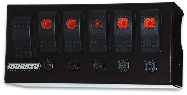 Moroso 74148 Gray//Black Fiber Design Switch Panel