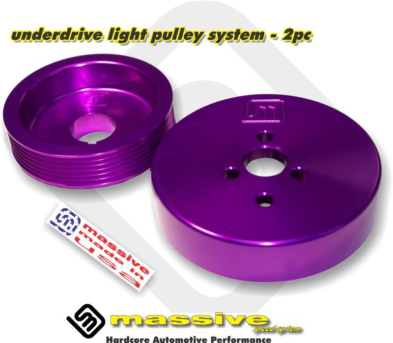 Massive Dual Underdrive Light Pulley System