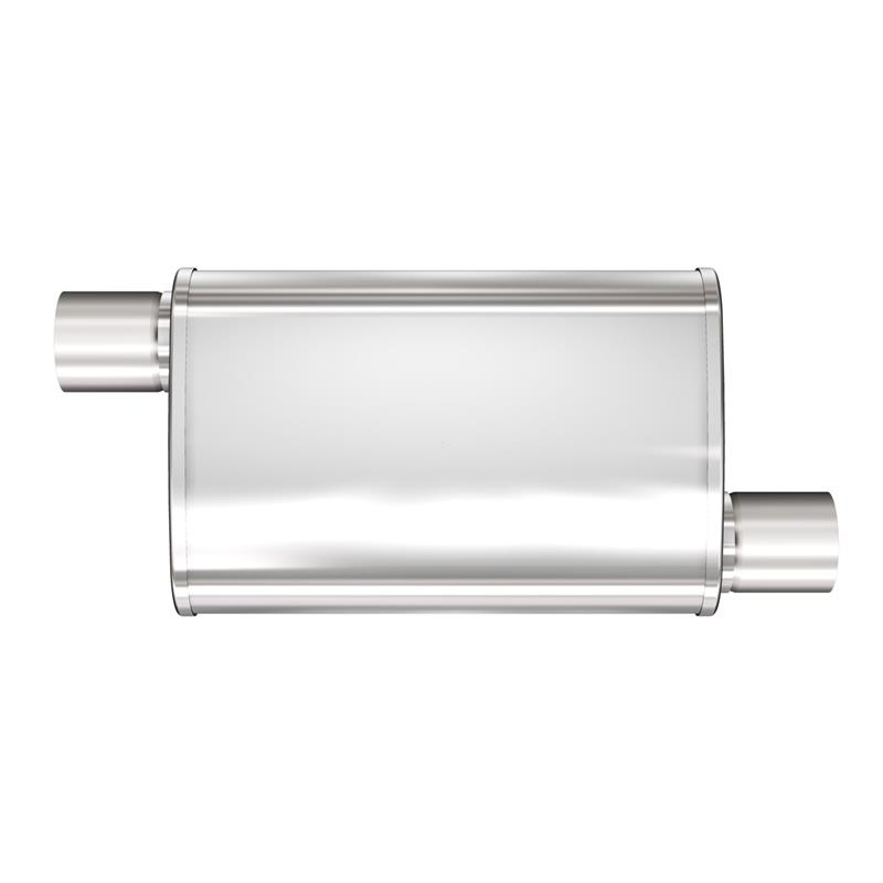 """MAGNAFLOW 13216 4/'/' x 9/'/' UNIVERSAL Oval Stainless Muffler Satin 2.5/"""" In//Out"""