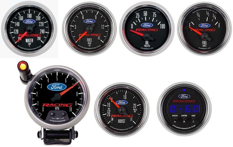 Universal Auto Gauges : Auto meter ford racing gauges universal miataroadster