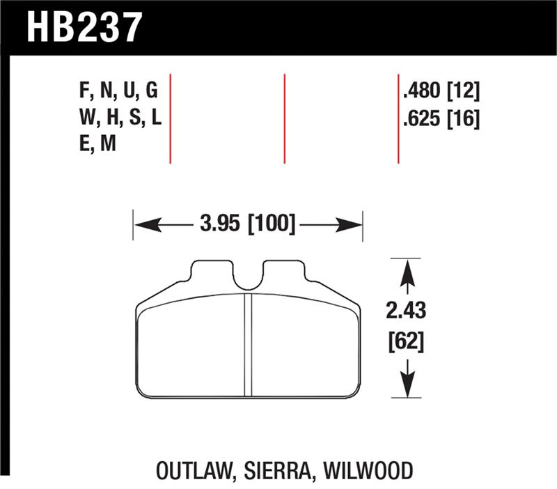 Hawk Performance HB185N.590 HP Plus Brake Pad