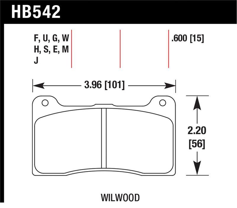 Hawk Performance HB100F.480 High Performance Street Disc Brake Pad HPS