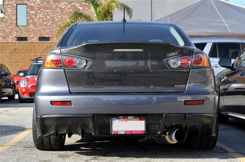 Cfrd08evoxse Carbon Fiber Rear Diffuser: Evo X Single Exhaust At Woreks.co
