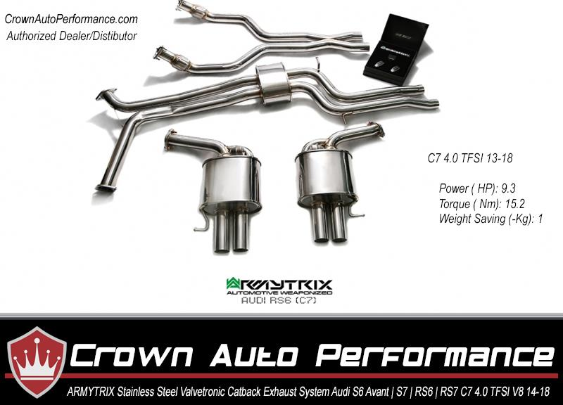 Armytrix Stainless Steel Valvetronic Catback Exhaust System Audi S6