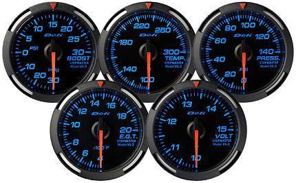 Defi Racer Gauge 60mm Pressure Meter DF11605 Red