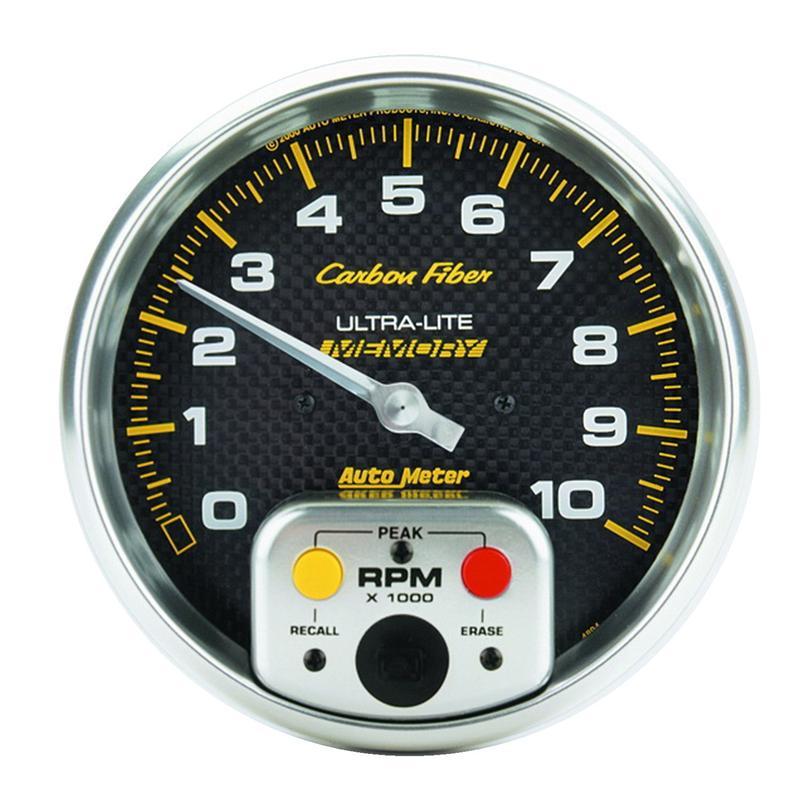 Auto Meter 4812 Carbon Fiber Mechanical Fuel Pressure Gauge