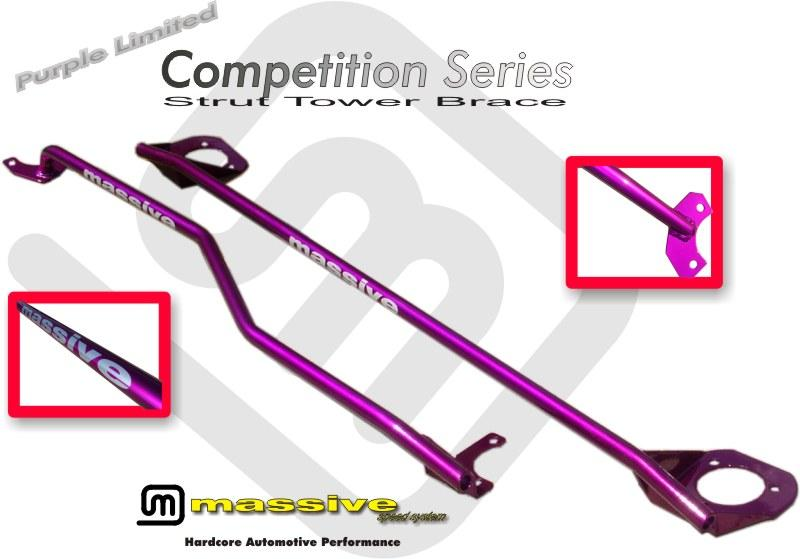 vehicle strut massive competition series front strut tower brace