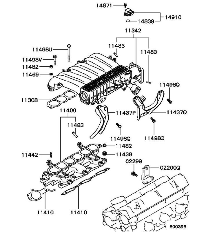 1994 dodge stealth engine diagram