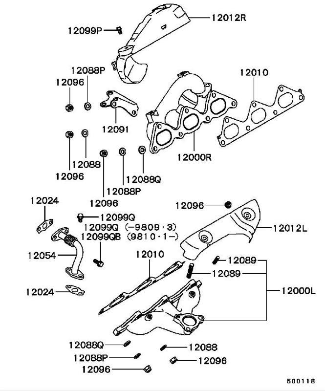 Stealth Dohc Exhaust Manifold Gasket Md168115 12010