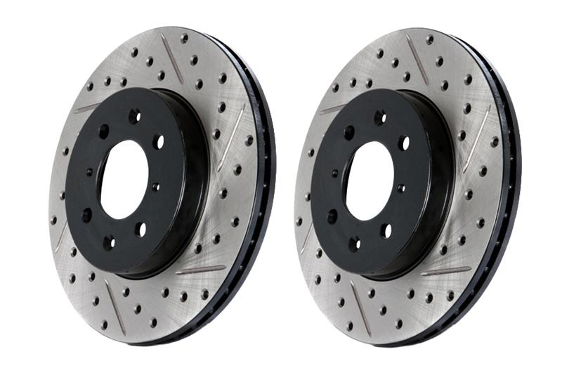 Premium Performance Drilled /& Slotted Disc Brake Rotors Front and Rear Set