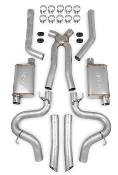 Hooker 16521HKR Dual Competition Header Back Exhaust System Kit