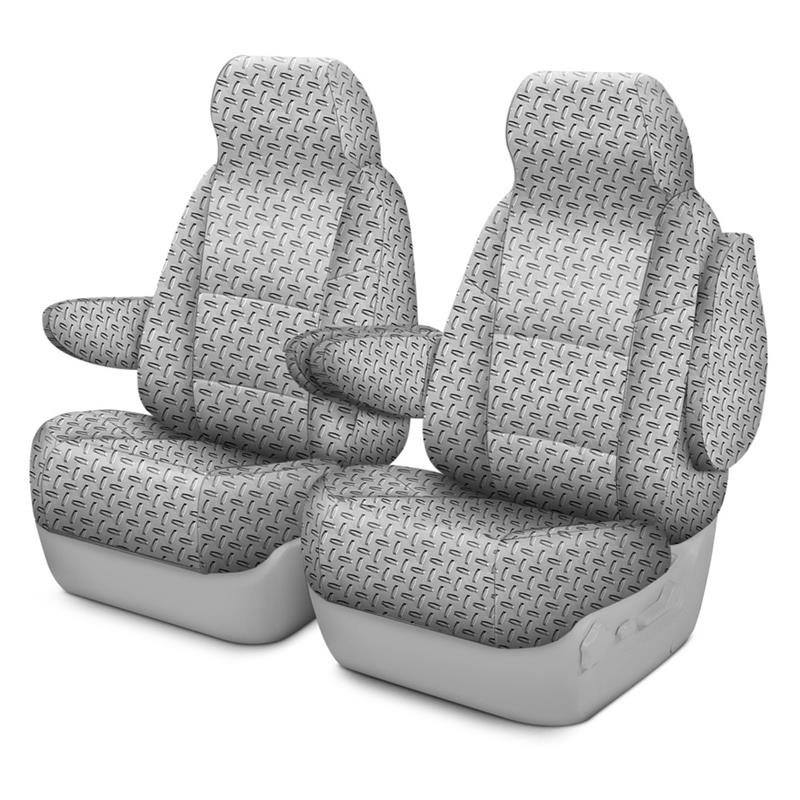 Pleasant Coverking Printed R Seat Covers For Avalanche Diamond Plate Caraccident5 Cool Chair Designs And Ideas Caraccident5Info