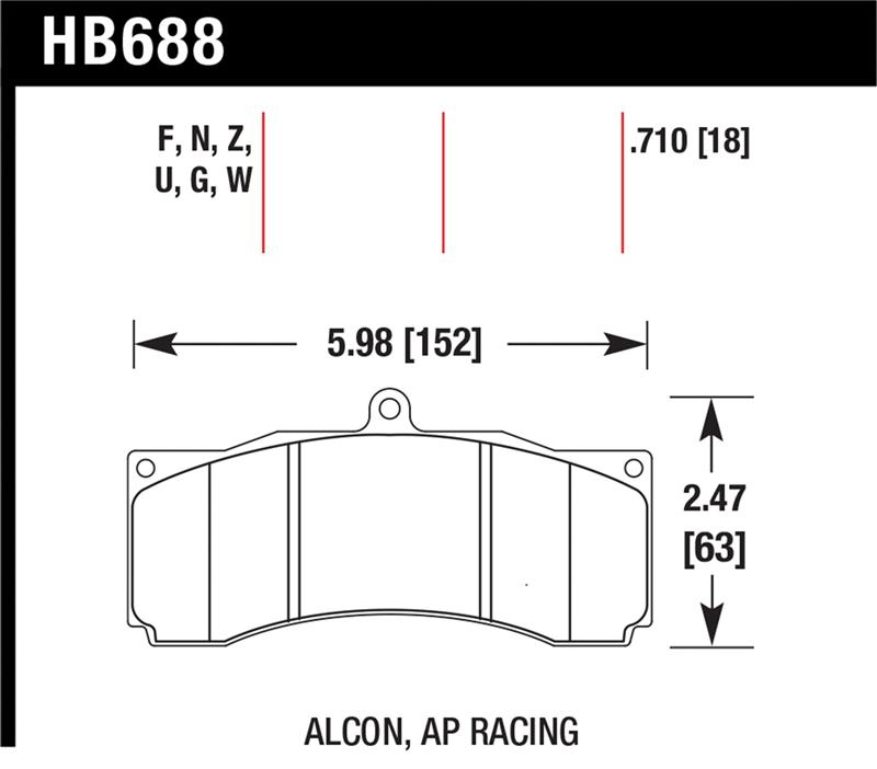 Hawk HB109N.710 Brake Pad