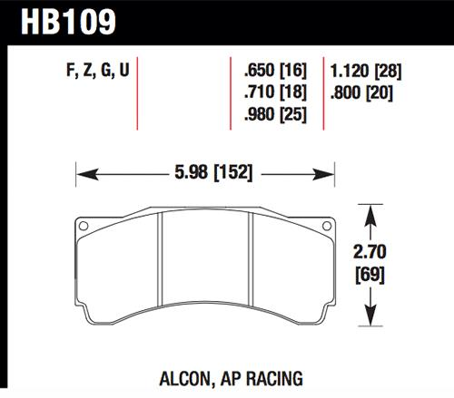 HB109U 710 - Hawk DTC (Dynamic Torque Control) Brake Pads