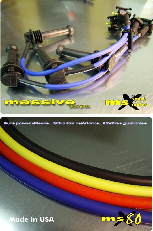 Mive MSX 80 Spark Cables Plug Wires FORD - Mive ... Racing Plug Wires on