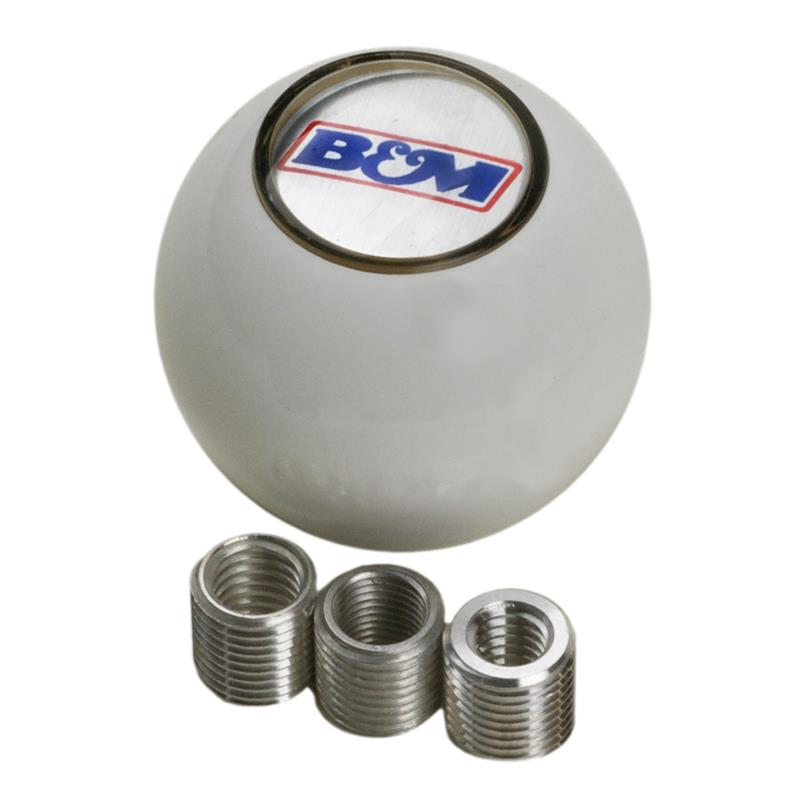 B/&M 80534 QuickSilver Replacement Billet Shifter Knob with SAE Threads