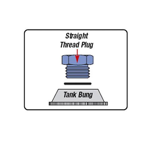 Russell 6 AN Straight Thread Plug Black 660273