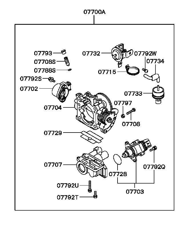 3000GT/Stealth Idle Adjustment Screw (BISS) O-ring MD608806