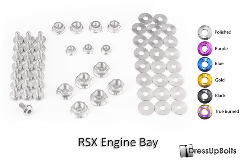 HON-003-Ti - Dress Up Bolts Full Engine Bay Kits - MVP