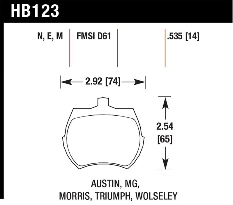 Mg Midget Brake Pads